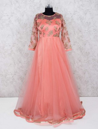 Peach color beautiful gown