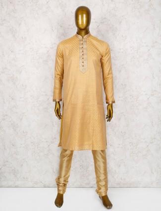 Peach color kurta suit for function