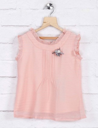 Peach hue knitted casual top