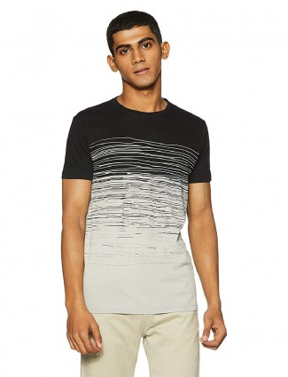 Pepe Jeans black and grey printed t-shirt