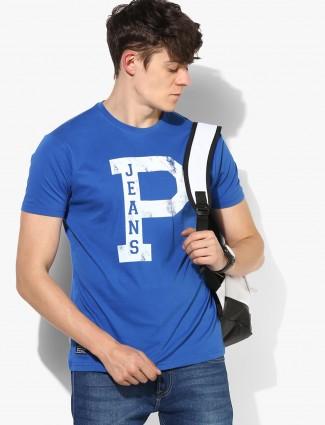 Pepe Jeans blue color cotton round neck t-shirt