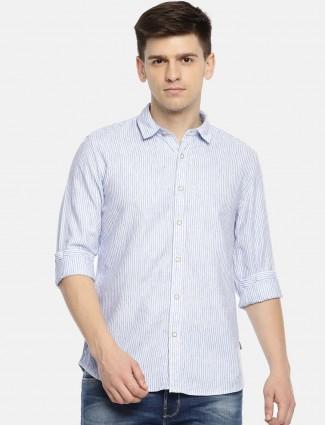 Pepe Jeans blue stripe pattern shirt