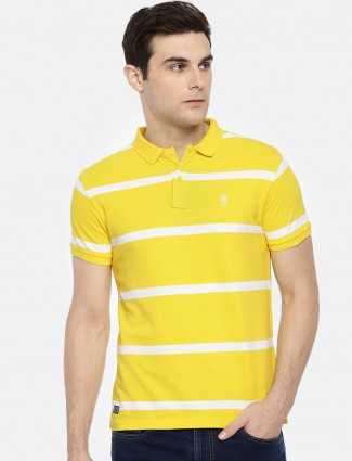 Pepe Jeans bright yellow stripe t-shirt