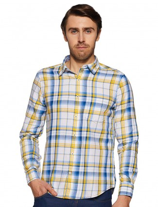 Pepe Jeans checked white and yellow colored shirt