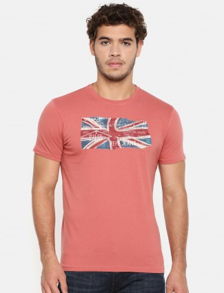 Pepe Jeans coral pink cotton t-shirt
