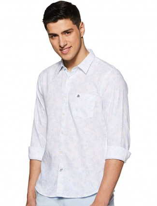 Pepe Jeans cotton off white printed shirt