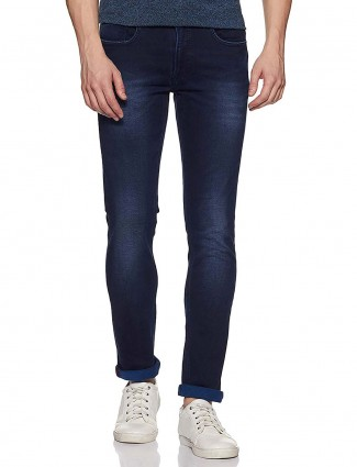 Pepe Jeans dark navy solid pattern jeans