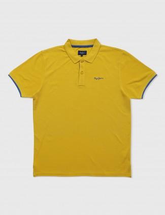 Pepe jeans lemon yellow plain t-shirt