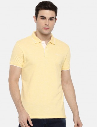 Pepe Jeans lemon yellow solid t-shirt