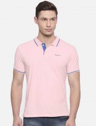 Pepe Jeans light pink cotton t-shirt
