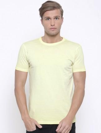 Pepe jeans light yellow plain t-shirt
