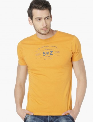 Pepe Jeans mustard yellow t-shirt