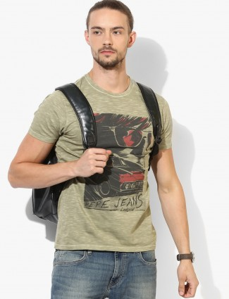 Pepe Jeans olive cotton t-shirt