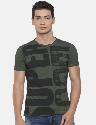 Pepe jeans olive green cotton t-shirt