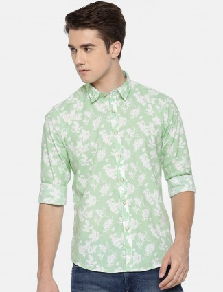 Pepe Jeans parrot green fower printed shirt