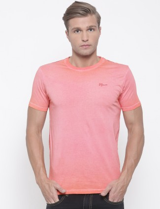 Pepe jeans pink hue solid casual t-shirt