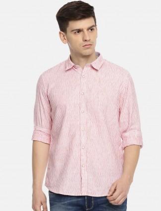 Pepe Jeans pink mens stripe shirt