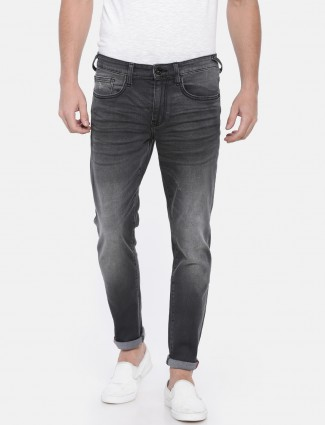 Pepe Jeans plain black colored jeans