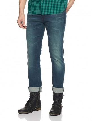 Pepe Jeans plain blue jeans