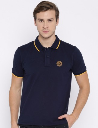 Pepe jeans plain navy slim fit t-shirt