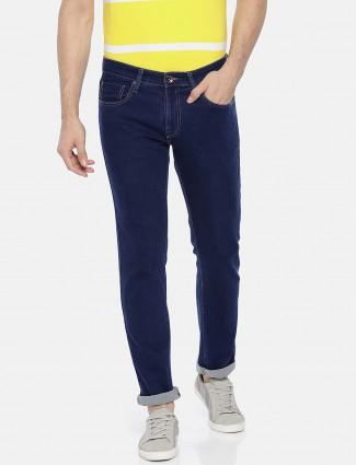 Pepe Jeans plain royal blue hued jeans