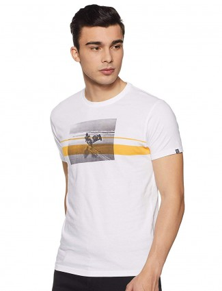 Pepe Jeans printed mens white t-shirt