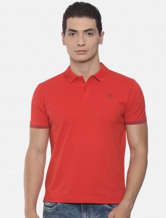 Pepe jeans red hue cotton plain t-shirt