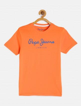 Pepe Jeans simple orange boys t-shirt