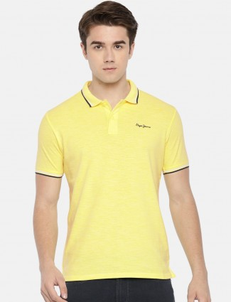 Pepe Jeans simple yellow hued t-shirt