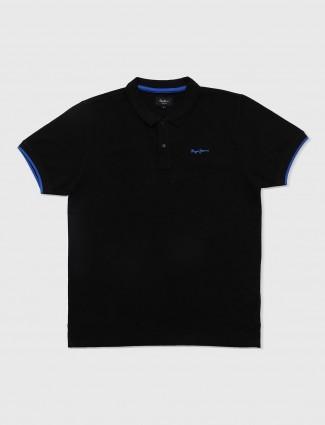 Pepe jeans solid black color t-shirt