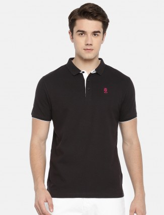 Pepe Jeans solid black cotton t-shirt