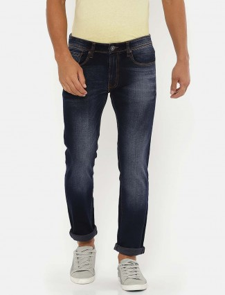 Pepe Jeans solid blue slim fit jeans
