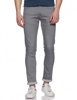 Pepe Jeans solid grey colored jeans
