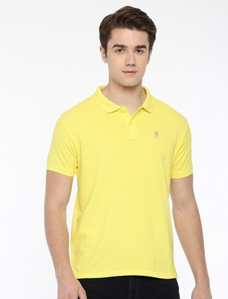 Pepe Jeans solid yellow slim fit t-shirt
