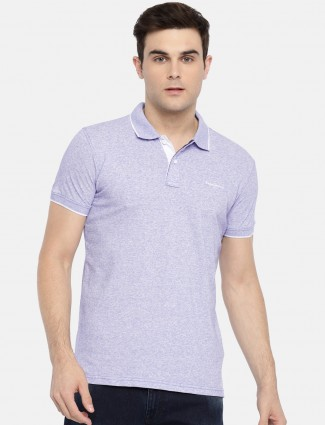Pepe Jeans violet solid cotton t-shirt
