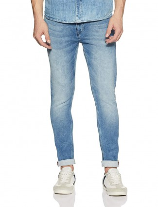 Pepe Jeans washed simple blue jeans