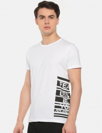 Pepe Jeans white casual slim fit t-shirt