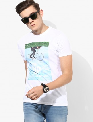 Pepe Jeans white cotton printed t-shirt