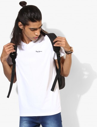 Pepe Jeans white slim fit t-shirt