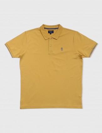 Pepe jeans yellow plain polo t-shirt