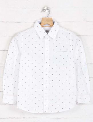 Pepe jeans yellow slim fit printed shirt