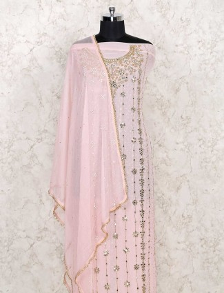 Pink colored cotton dress material