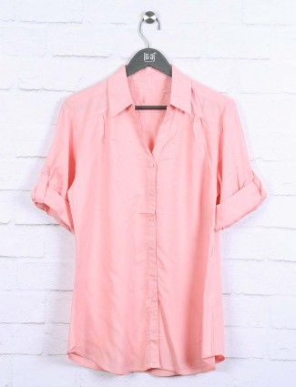 Pink colored cotton top