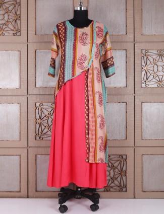 Pink cotton amazing kurti