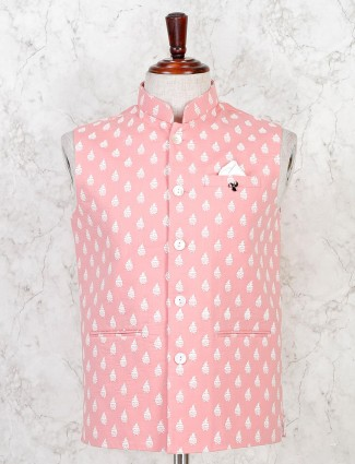 Pink cotton stunning waistcoat