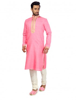 Pink festive wear awesome kurta suit