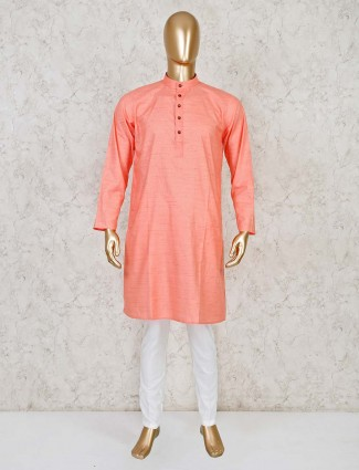 Pink festive wear cotton  kurta suit
