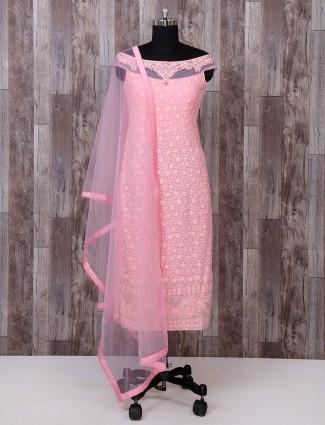 Pink georgette fabric salwar suit