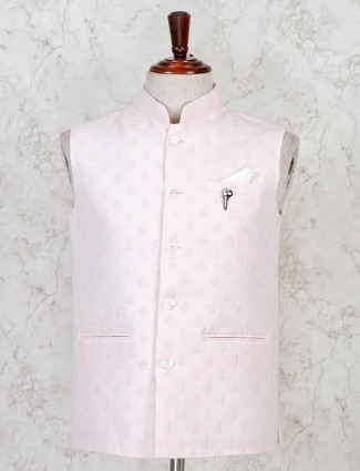 Pink hue cotton fabric waistcoat