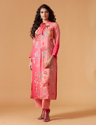 Pink hue muslin silk punjabi salwar suit